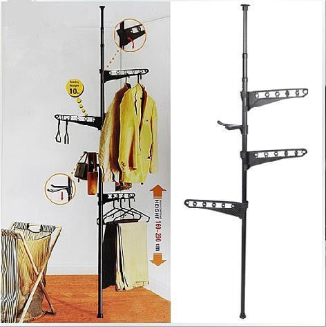 Standing Pipe Racks 3 layer hangers-clothes-hats