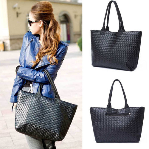 Fashion Simple Black Shoulder HandBag