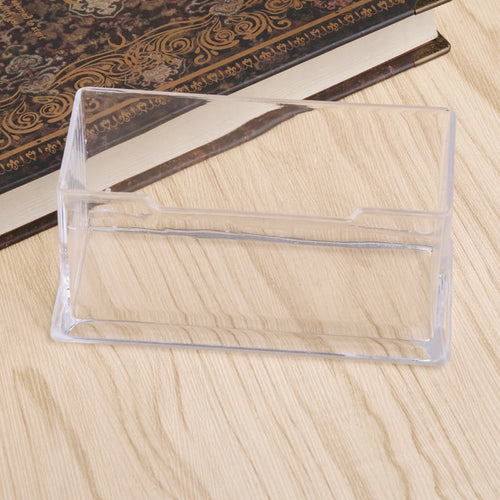 Clear Business Card Holder Desktop Countertop Shelf Box