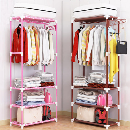 Hat Rack Clothes Rack-Shelves-Standing-Storage--Closet