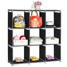 Load image into Gallery viewer, 3Tier 9 Compartment Storage Cube Closet Organizer