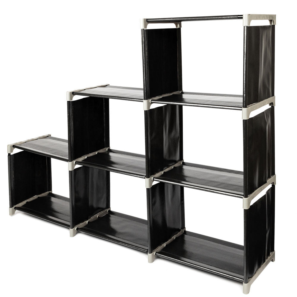 3 Tier 6 Compartment Storage Cube Closet Organizer Shelf Bookcase