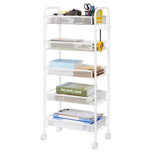 5-Tier Metal Rolling Storage Rack Organizer
