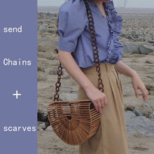 Load image into Gallery viewer, Luxe Beach Bamboo Handbag