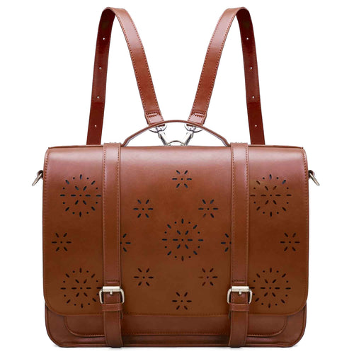 ECOSUSI Women's Leather Retro Messenger Bag