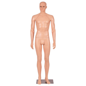 6 FT Male Mannequin Metal-Full Body Stand