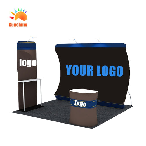 New Arrival Curved Stretch Tension Fabric Display Backdrop Stand