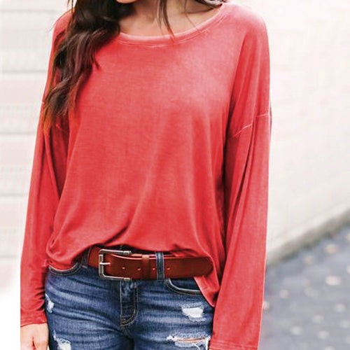 Casual Long Sleeve T-Shirt Loose Fit