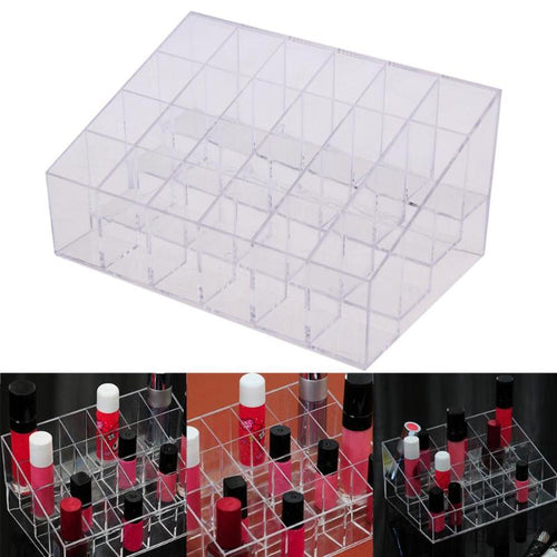 24 Grid Acrylic Makeup Display