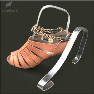 gootrades 1 pair Women Clear Acrylic Plastic Sandal Lady Shoes Display Stand Inserts Holders Shoe Trees