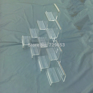 10 Piece 4 Tier Clear Wallet Display Purse Rack