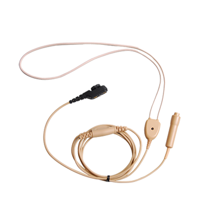 Hytera PD705LT Neckloop Inductor with Microphone and PTT for use with Wireless Earphone (Beige)