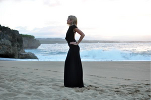 Emily Luciano in DAHER label Black Gown