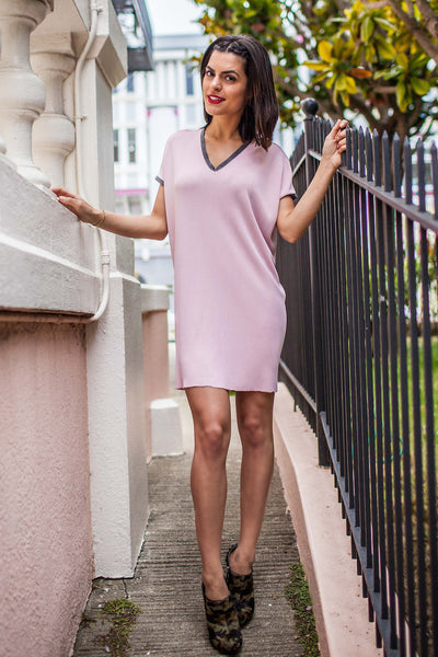 Powder Pink Sack Dress