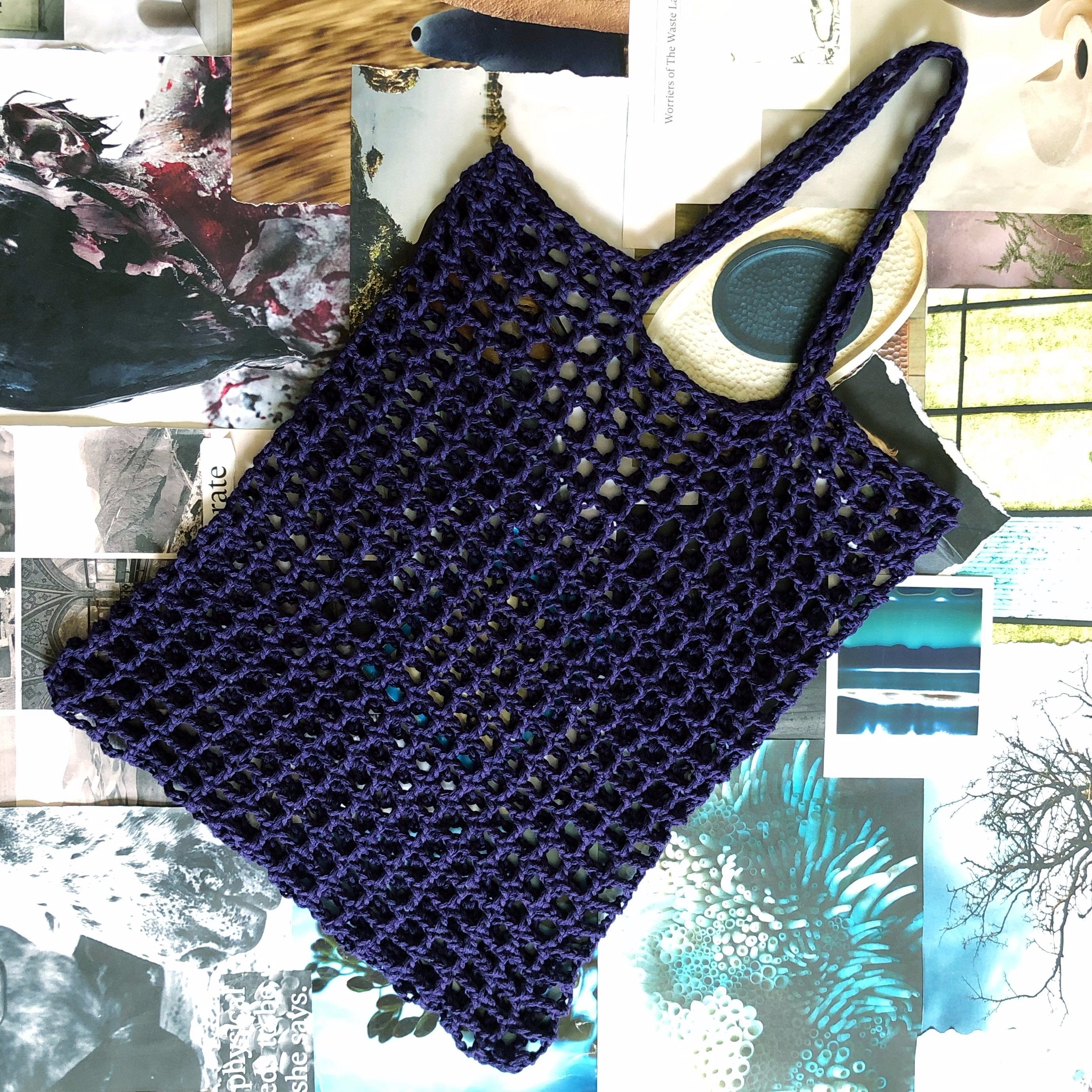 LARGE CROCHET NET TOTE