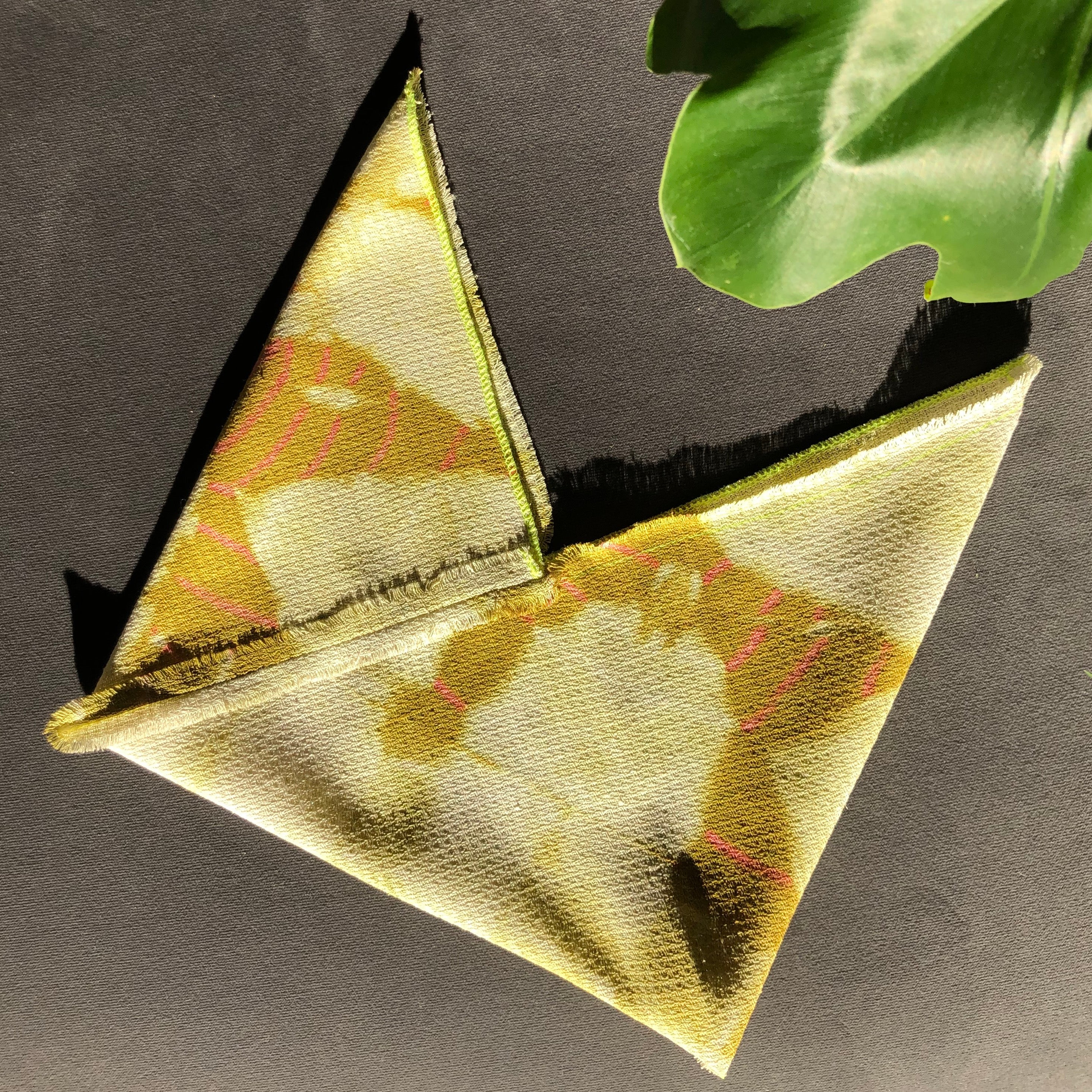 MINI PRICKLY PEAR FOLD-DYED ORIGAMI BAG