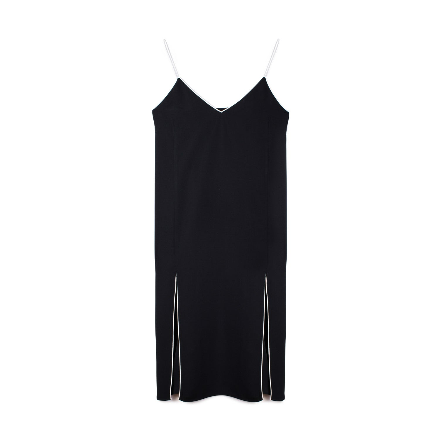 SAG HARBOR SLIP DRESS BLACK