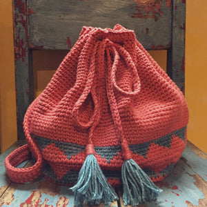 CROCHET BUCKET BACKPACK