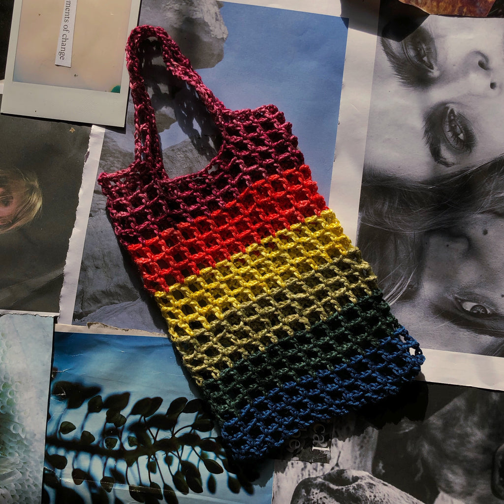 MINI RAINBOW NET TOTE