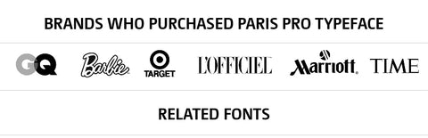 PARIS PRO TYPEFACE IN USE