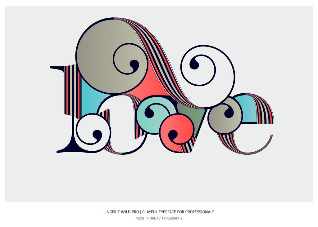 Love typography designed by Moshik Nadav Typography studio NYC