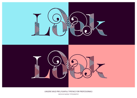 Beautiful logo design made with Lingerie Wild Pro Typeface by Moshik Nadav