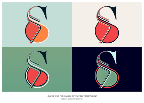 Unique ampersand design by Moshik Nadav Typography
