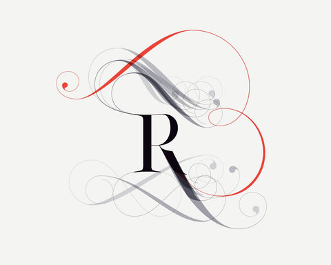 Super sexy R font - Made with the fashion Lingerie Typeface by Moshik Nadav Typography