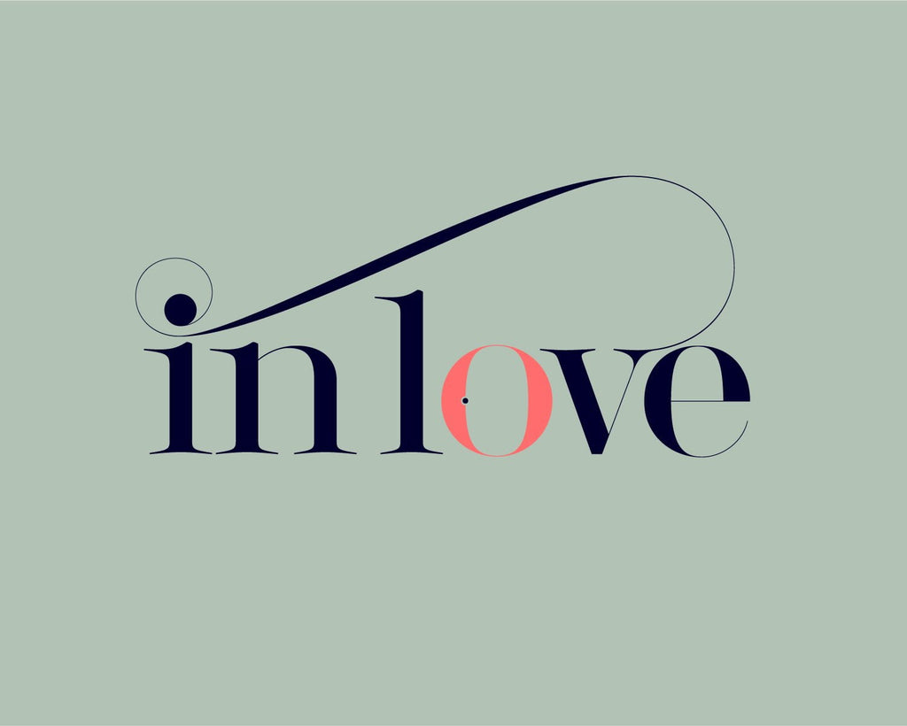 in love font - Made with the fashion Lingerie Typeface by Moshik Nadav Typography