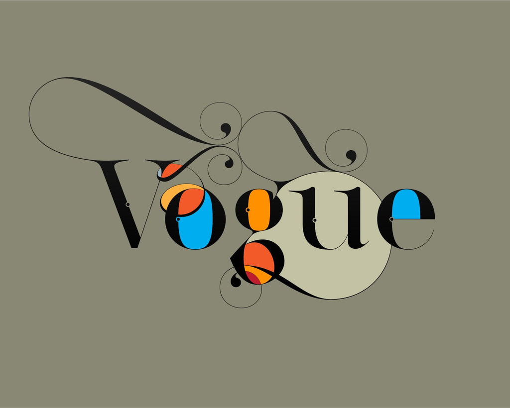 Vogue font - Made with the fashion Lingerie Typeface by Moshik Nadav Typography