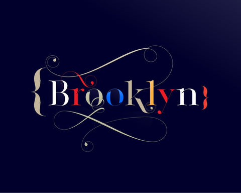 Brooklyn -  Made with the sexy Lingerie Typeface by Moshik Nadav Typography