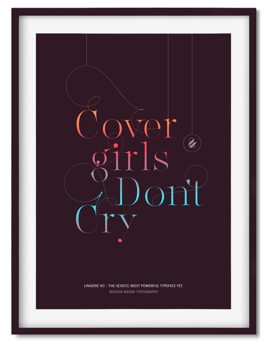 Cover girls don't cry poster designed by Moshik Nadav Fashion Typography