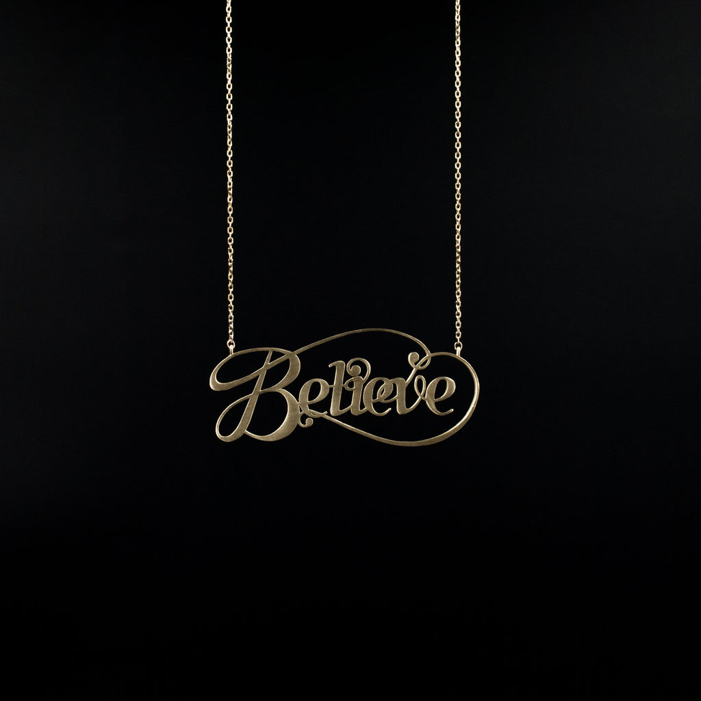 Gold Believe by Moshik Nadav Typography