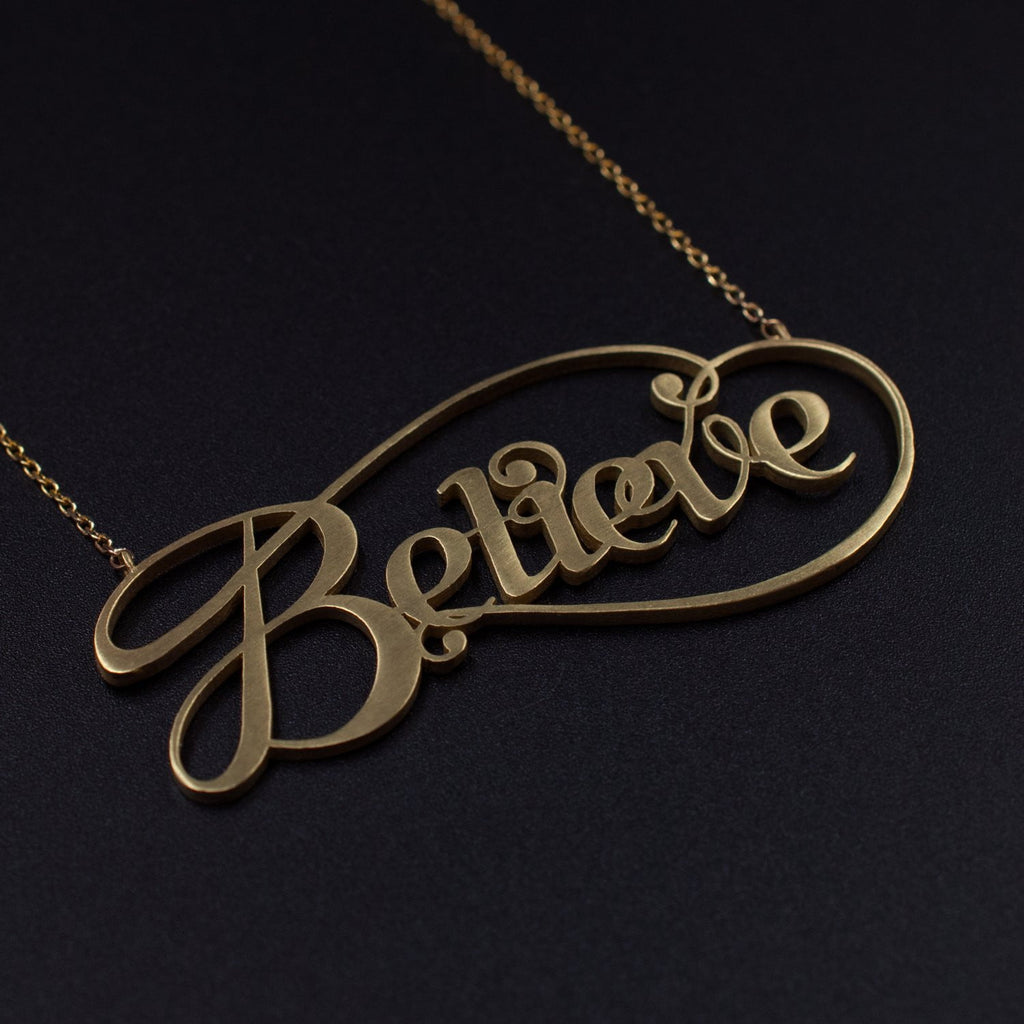 Beautiful Gold Believe by Moshik Nadav Typography