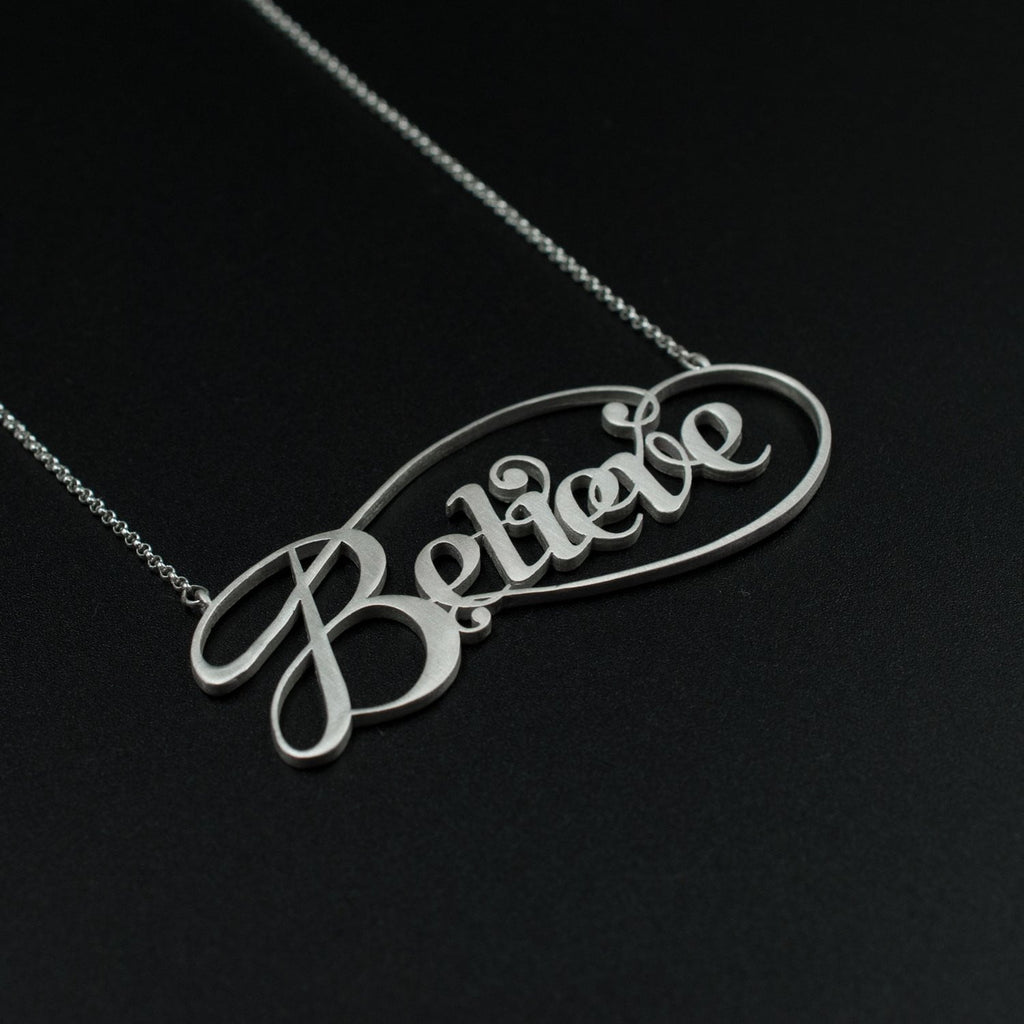 Beautiful Silver Believe by Moshik Nadav Typography