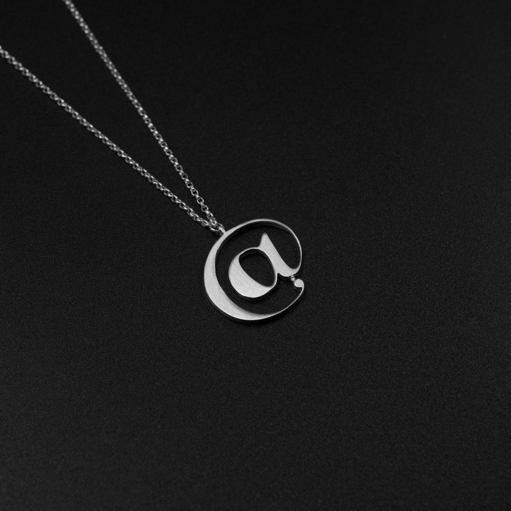 Beautiful Silver @ necklace by Moshik Nadav Typography