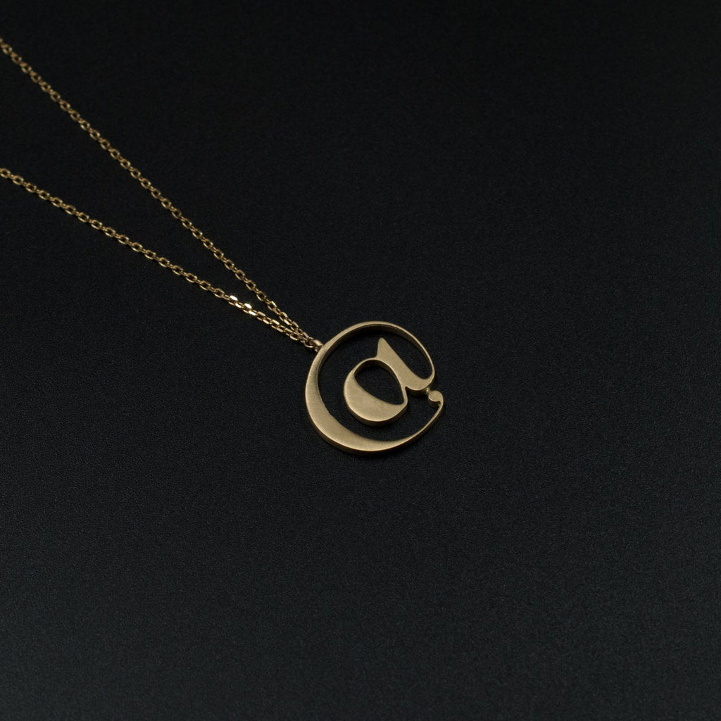 Beautiful Gold @ necklace by Moshik Nadav Typography