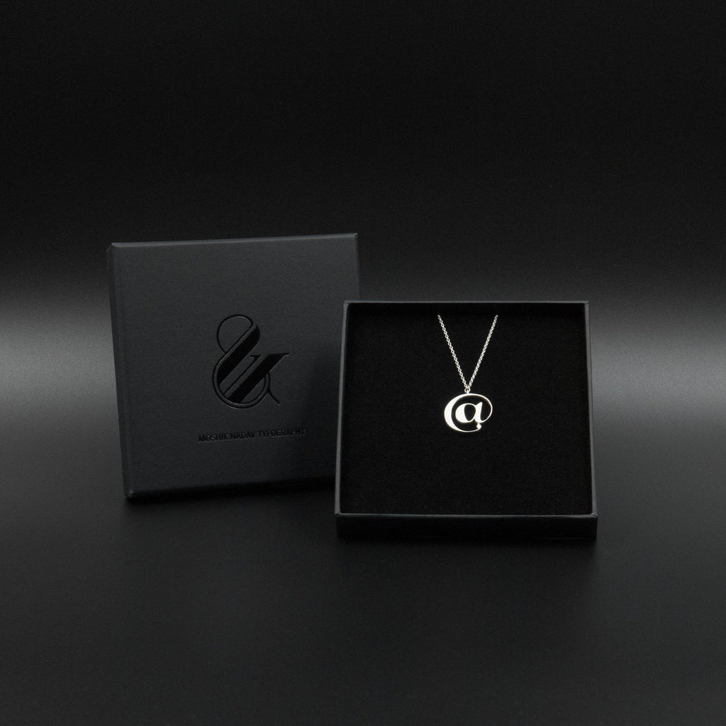 Beautiful Silver @ necklace box by Moshik Nadav Typography
