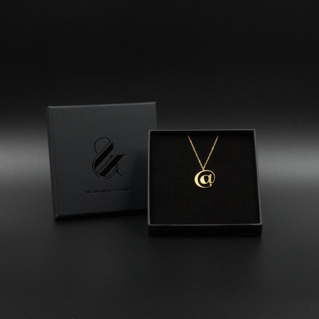 Beautiful Gold @ necklace box by Moshik Nadav Typography