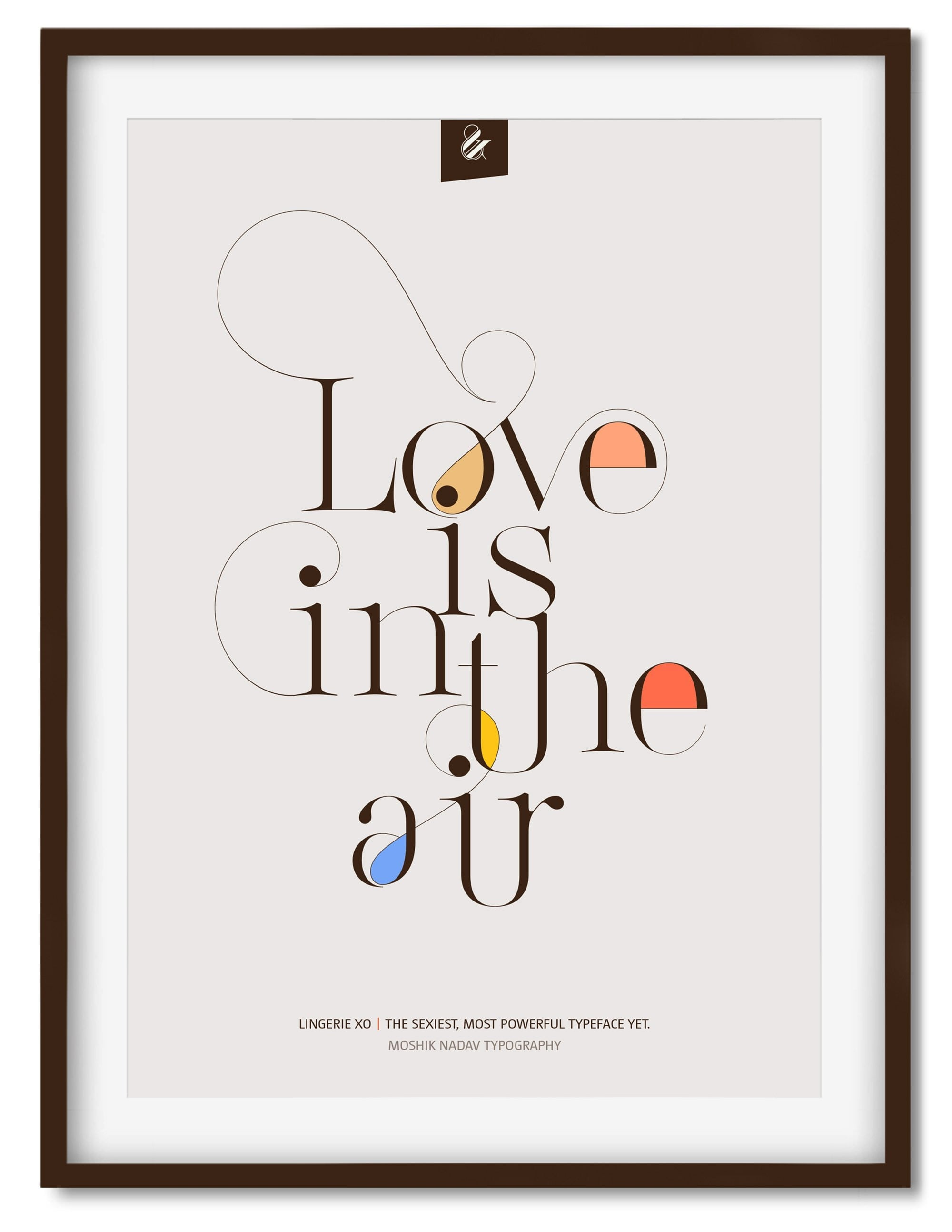 love is in the air poster moshik nadav fashion typography and fonts