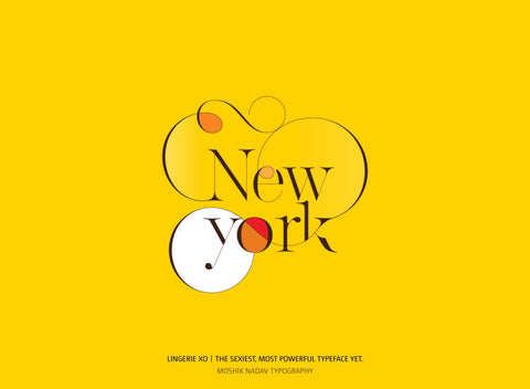 NEW YORK made with Lingerie XO - a super sexy font for fashion and luxury