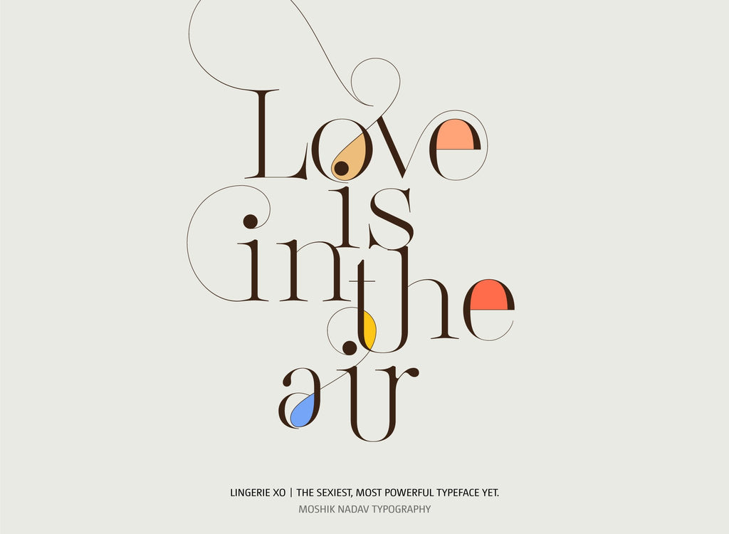 Love is in the air beautiful fonts Moshik Nadav
