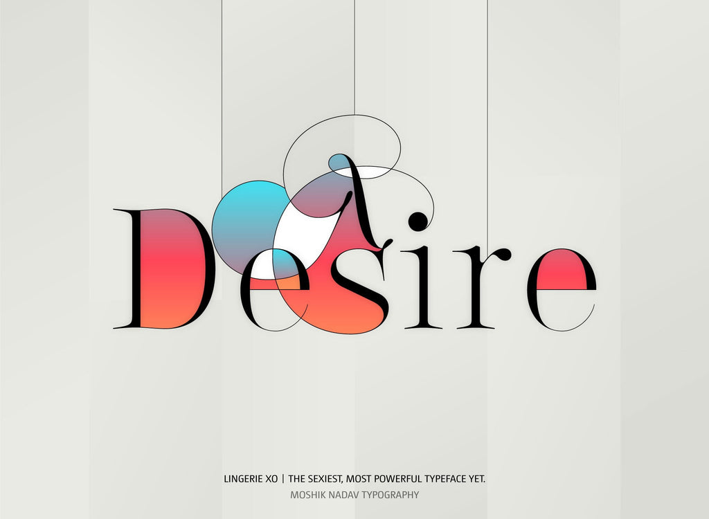 Desire Fonts For Fashion Magazine
