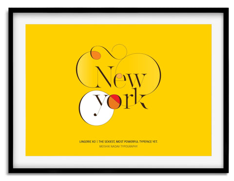 New York Poster - Made by Moshik Nadav Typography