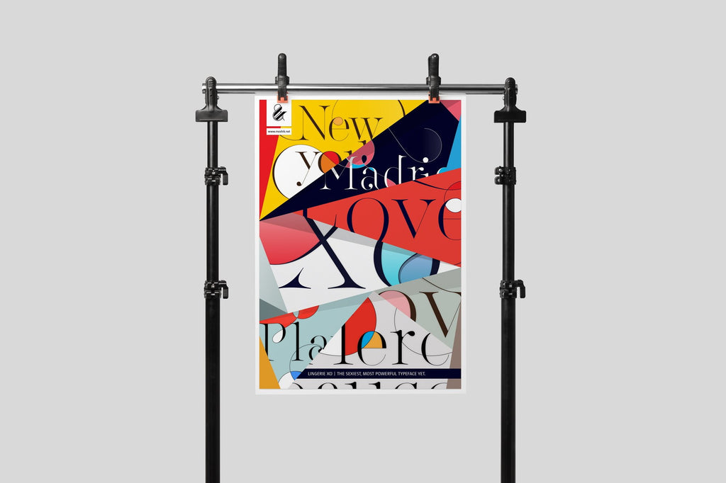 Buy super beautiful typography posters to decorate your apartment by Moshik Nadav