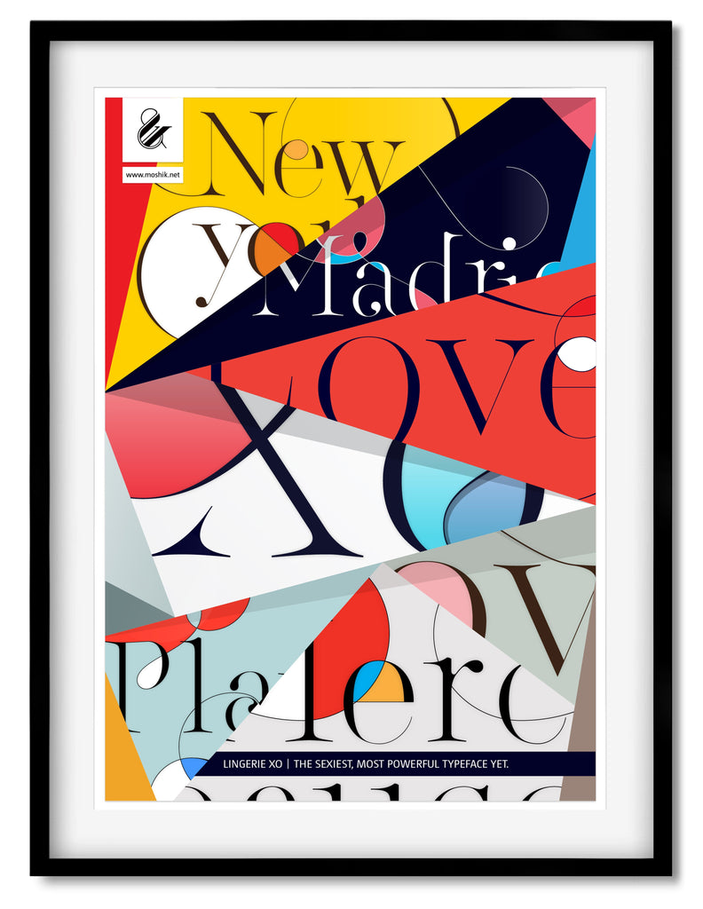 Buy cool typography posters to decorate your apartment by Moshik Nadav