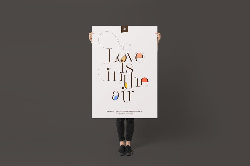 Love is in the air poster by Moshik Nadav Fashion Typography based in NYC