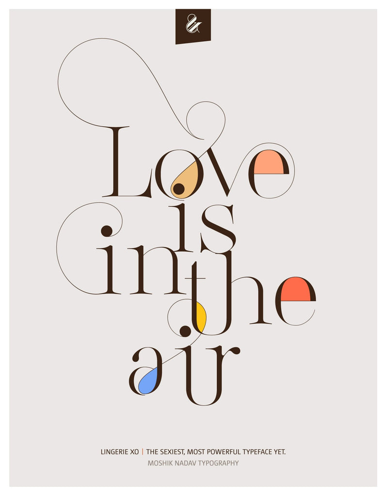 Love is in the air poster by Moshik Nadav Fashion Typography and fonts NYC
