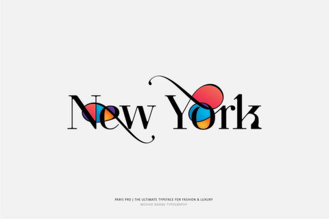Paris Pro Typeface - New York by Moshik Nadav Typography