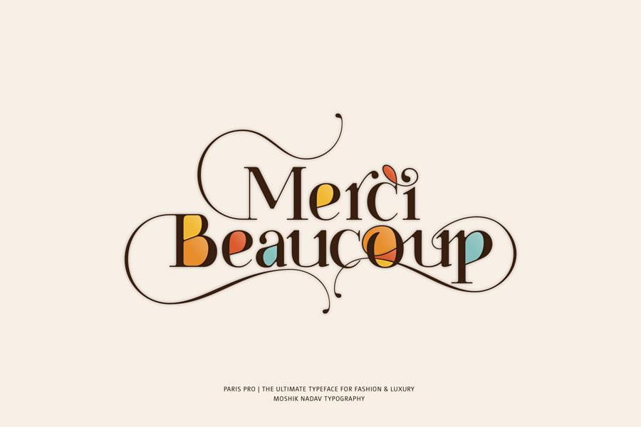 mercy beaucoup font Moshik Nadav Fashion Typography
